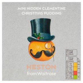 Heston from Waitrose mini hidden clementine Christmas pudding