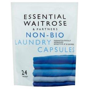 essential Waitrose Non-Bio Laundry Capsules 24 washes