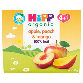 Hipp organic just fruit, apple, peach & mango - stage 1