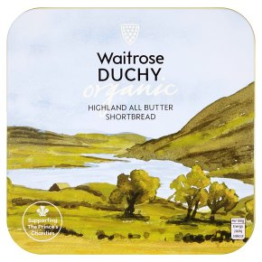 Waitrose Duchy Organic Highland all butter shortbread tin
