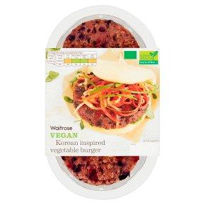 Waitrose Vegan Korean Inspired Vegetable Burger