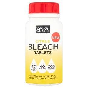 Compact Clean 40 Citrus Tablets