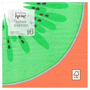 Waitrose Fruit Slice Napkins 33cm x 33cm