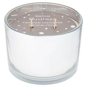 Waitrose Mistletoe Double Wick Candle