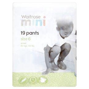 Waitrose Mini Pants Size6