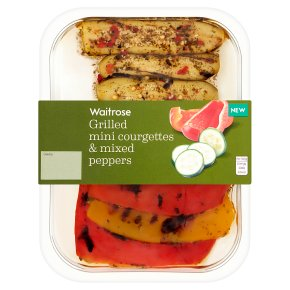 Waitrose Grilled Mini Courgettes & Peppers