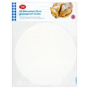 Tala siliconised greaseproof circle