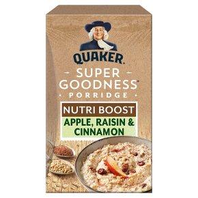 Quaker oat goodness apple & cinnamon porridge