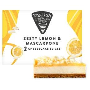English Cheesecake Lemon Mascarpone Cheesecake Slices