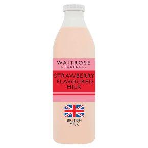 essential Waitrose strawberry flavoured milk