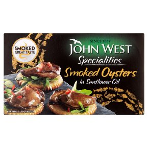 John West smoked oysters in sunflower oil