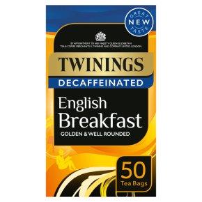 Twinings 50 decaffeinated English breakfast