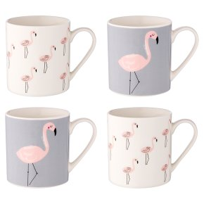Waitrose Dining Flamingo Mugs