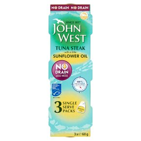 John West No Drain Tuna Steak in Sunflower Oil