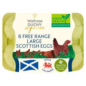 Waitrose Duchy Organic 6 large Scottish free range eggs