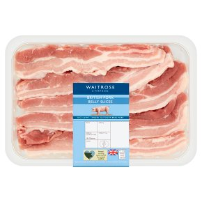 essential Waitrose British pork belly slices