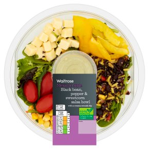 Waitrose Black Bean, Pepper & Sweetcorn Salsa Bowl