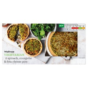 Waitrose Vegetarian Spinach, Courgette & Feta Cheese Pies