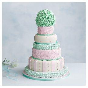 Tallulah 5 tier Wedding Cake, Fruit (Base tier) & Chocolate Salted Caramel (4 tiers)