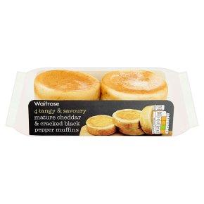 Waitrose Cheddar & Black Pepper Muffins