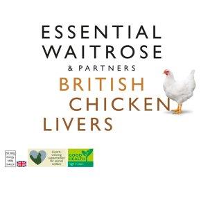 essential Waitrose Frozen British chicken livers