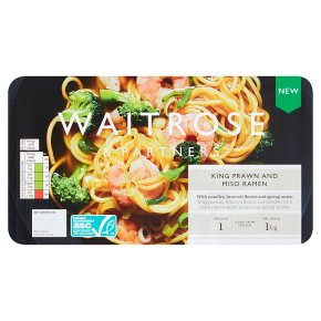 Waitrose King Prawn and Miso Ramen