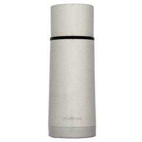 Waitrose 350ml silver vacuum flask