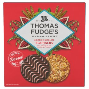 Thomas.J.Fudges Delectable Dark Chocolate Flapjacks