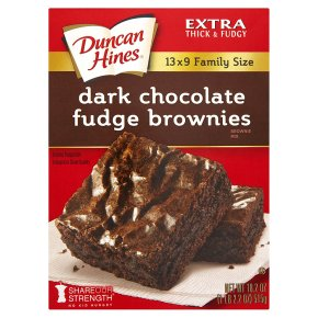 Duncan Hines brownies mix dark chocolate fudge