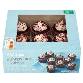 Waitrose red velvet mini cupcakes