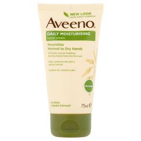 Aveeno hand cream with oatmeal
