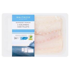 Waitrose MSC skinless, boneless cod fillets