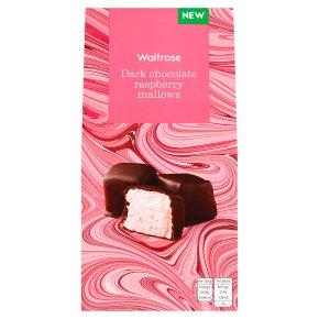 Waitrose Dark Chocolate Raspberry Mallows