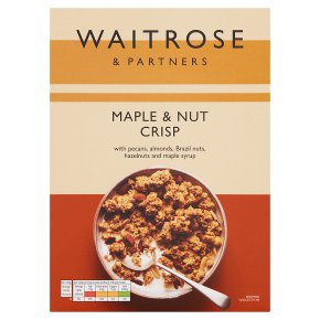Waitrose maple & mixed nut crisp