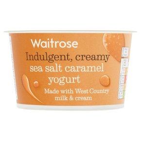 Waitrose Sea Salt Caramel Yogurt