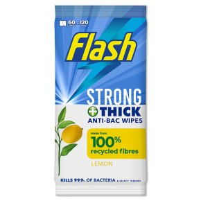 Flash Extra Large Anti-Bacterial Wipes