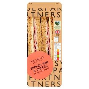 Waitrose smoked ham & cheese sandwich