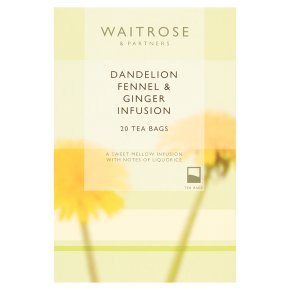 Waitrose LOVE life dandelion, fennel & ginger infusion