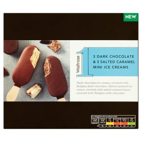 Waitrose 1 Dark Chocolate & Salted Caramel Ice Creams