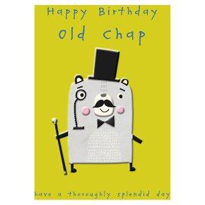 Old Chap Happy Birthday Card