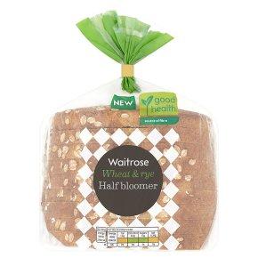 Waitrose Wheat & Rye Half Bloomer