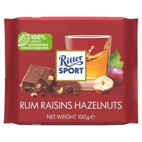 Ritter Sport Rum Raisins Hazelnuts