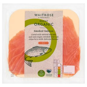 Waitrose Duchy Organic mild smoked salmon, 4 slices