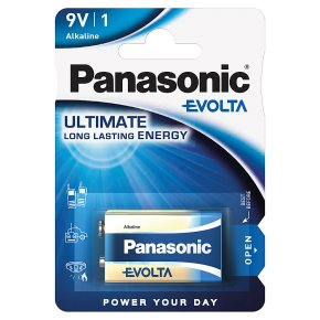 Panasonic Evolta 9V Batteries Alkaline 1pk