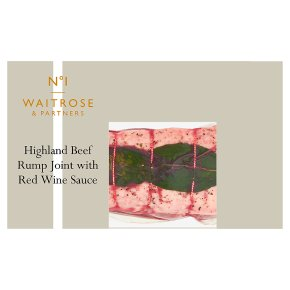No.1 Highland Beef Rump Joint with Sauce