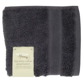 Waitrose Home Egyptian Cotton Guest Towel Grey