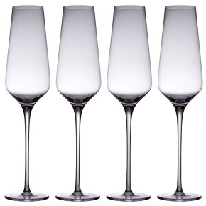 from Waitrose crystal champagne flutes, pack of 4