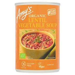 Amy's Kitchen lentil & vegetable soup