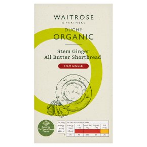Waitrose Duchy Organic stem ginger all butter shortbread