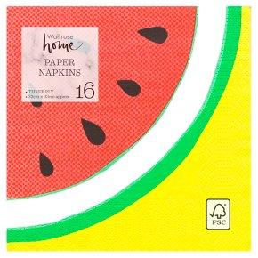 Waitrose Fruity Napkins 33cm x 33cm
